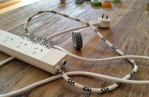 Decorative Extension Cords B-W 1