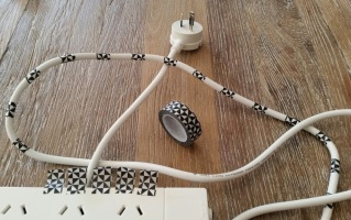 Decorative Extension Cords B-W 2