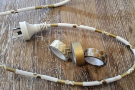 Decorative Extension Cords Gold 1
