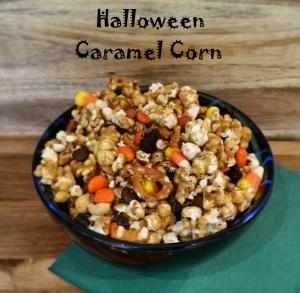 Halloween Caramel Corn Text