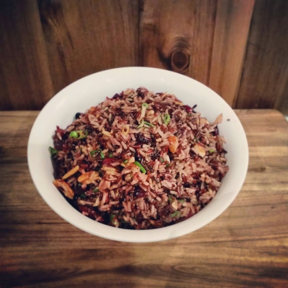 Wild Rice Salad with Cranberry, Pecan and Almond | www.whiskeyandchanel.com
