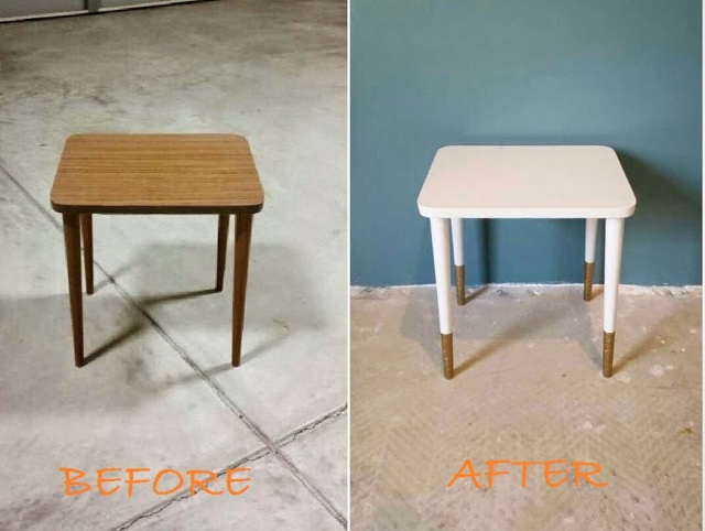 Side Table Before - After