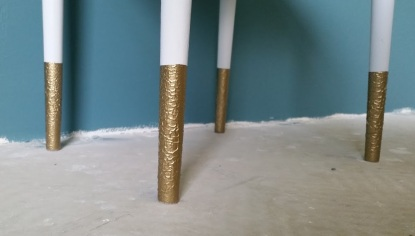 Side Table Gold Legs