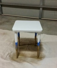 Side Table Gold Paint
