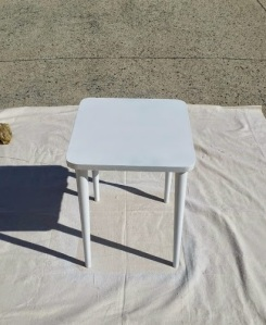 Side Table White Paint 3