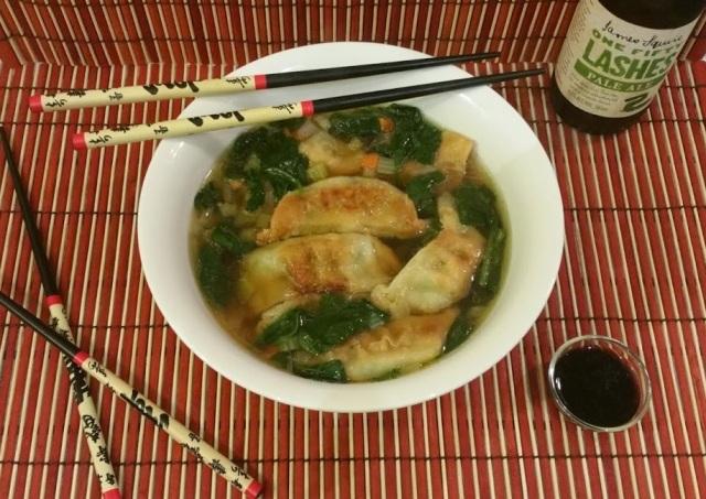 Asian Potsticker Soup | www.whiskeyandchanel.com