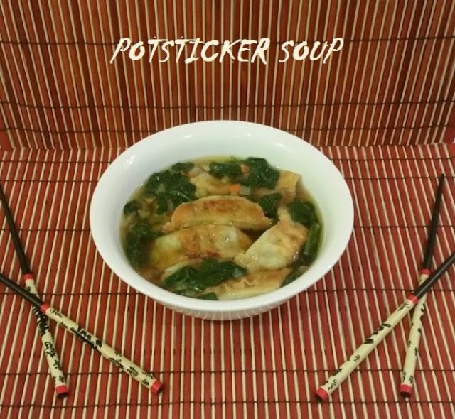 Easy Asian Potsticker Soup Mirepoix | www.whiskeyandchanel.com