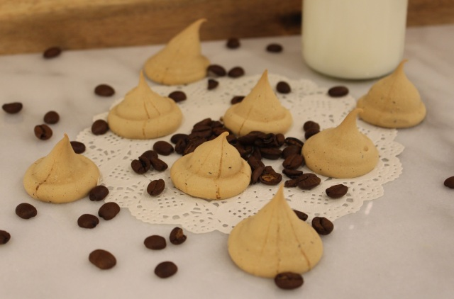 homemade espresso meringue cookies on Whiskey & Chanel