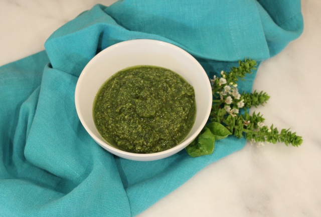 Homemade Pine Nut & Basil Pesto  | Whiskey & Chanel