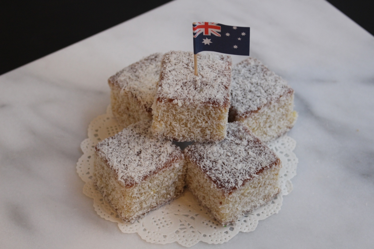 White Chocolate Lamingtons