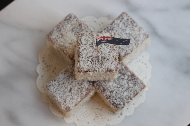 Homemade, White Chocolate, Lamington, Cake, Dessert, Sweets, Australian, Australia Day, Whiskey & Chanel