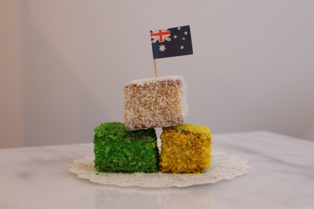 Homemade, White Chocolate, Lamington, Cake, Dessert, Sweets, Australian, Australia Day, Whiskey & Chanel